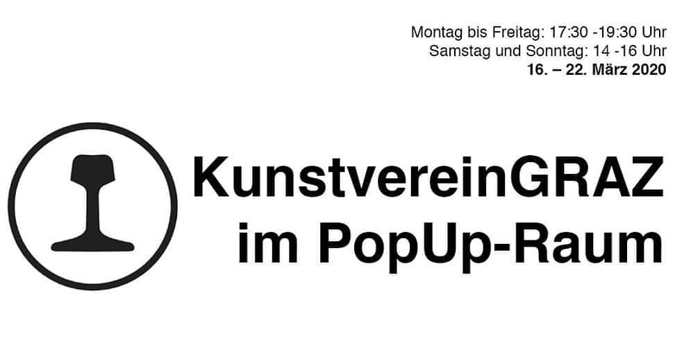 KunstvereinGRAZ im PopUp-Raum